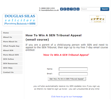 How To Win a SEN Tribunal Appeal (webpage)
