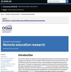 Remote Education Research webpage