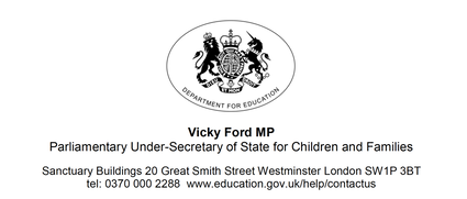 Vicky Ford MP - letter of 5.3.2021
